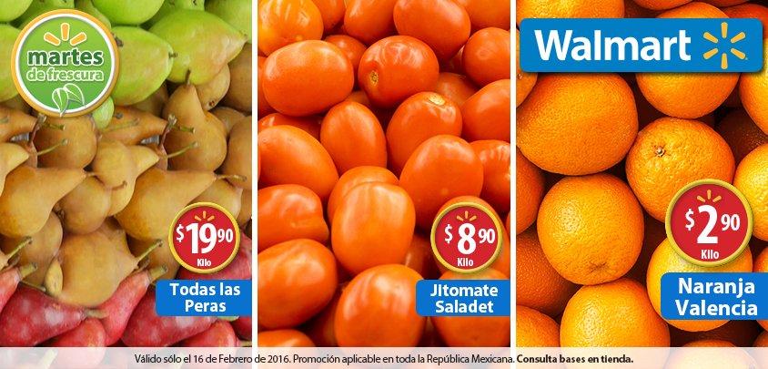Martes de frescura en Walmart febrero 16: Naranja Valencia a $2.90 el kilo y más