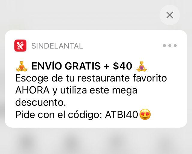 SinDelantal: $40 de descuento + envío gratis