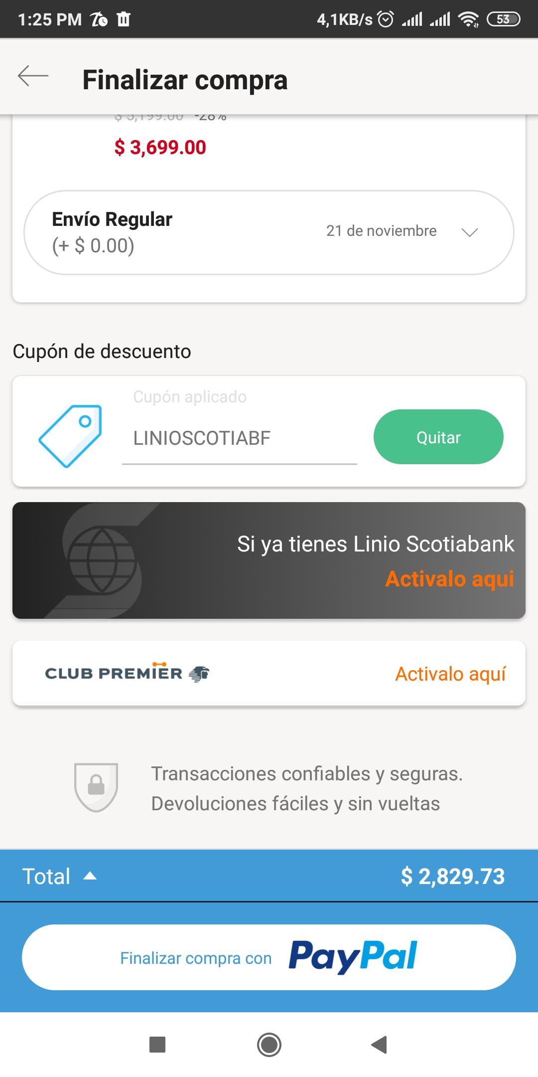 Linio: Redmi note 8 3-32 gb envio nacional (pagando con Paypal)