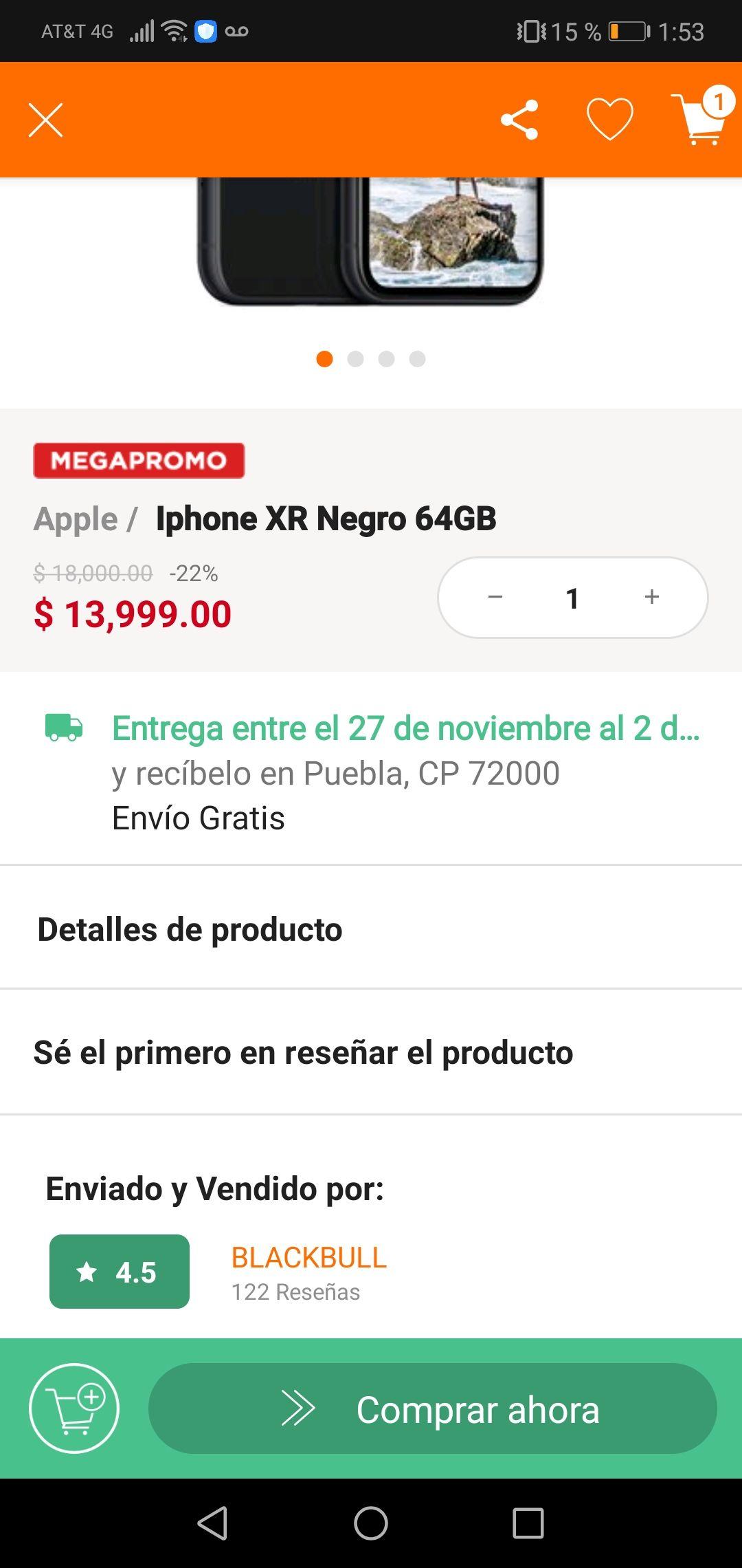 Linio: IPhone xr 64 gb negro en Linio (paypal+citibanamex)