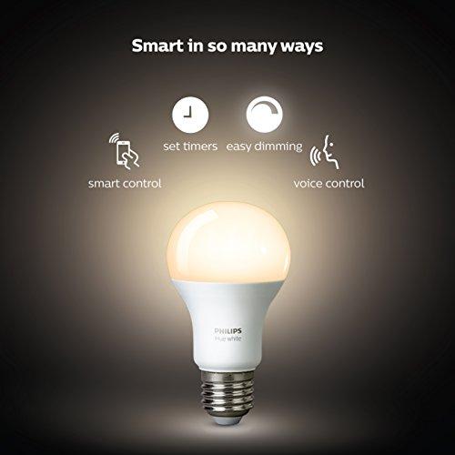 Amazon: Philips HUE LED Starter Pack, 2 Lámparas White 9.5W A19 E26 + Bridge