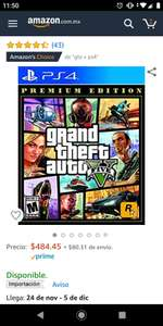 Amazon: GTA V Premium edition PS4