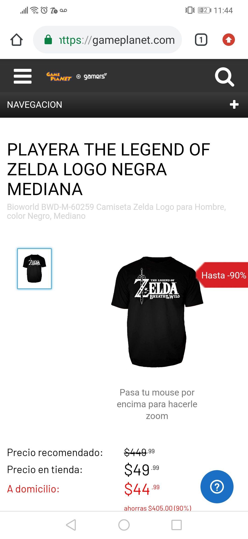 Gameplanet:playera de ZELDA media $45 y Figura dweller female $49