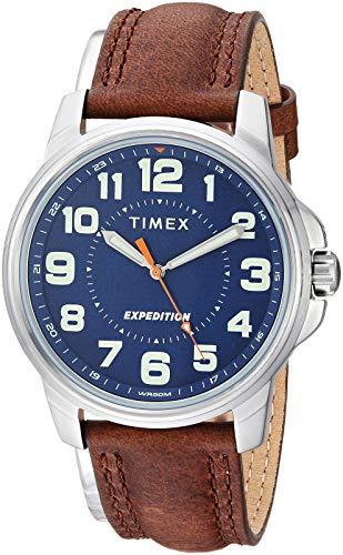 Amazon: Timex T40051 Expedition Metal Field Reloj con correa de cuero marrón para hombre