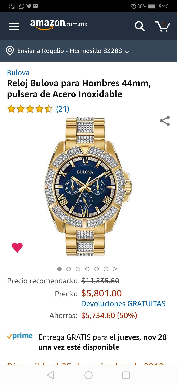 Amazon: Reloj Bulova con cristales Swarovski