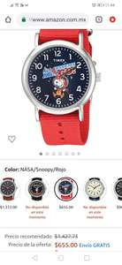 Amazon: Timex Weekender snoppy +10% con banamex, expedition scout 40