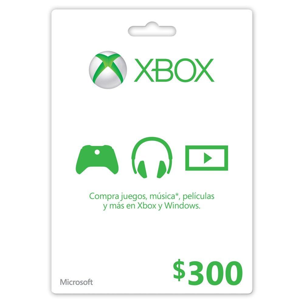 Amazon México: tarjeta prepago Xbox Live de $300 a $240 (Ej. $900 de crédito por $640 con envío gratis pagando con Visa)
