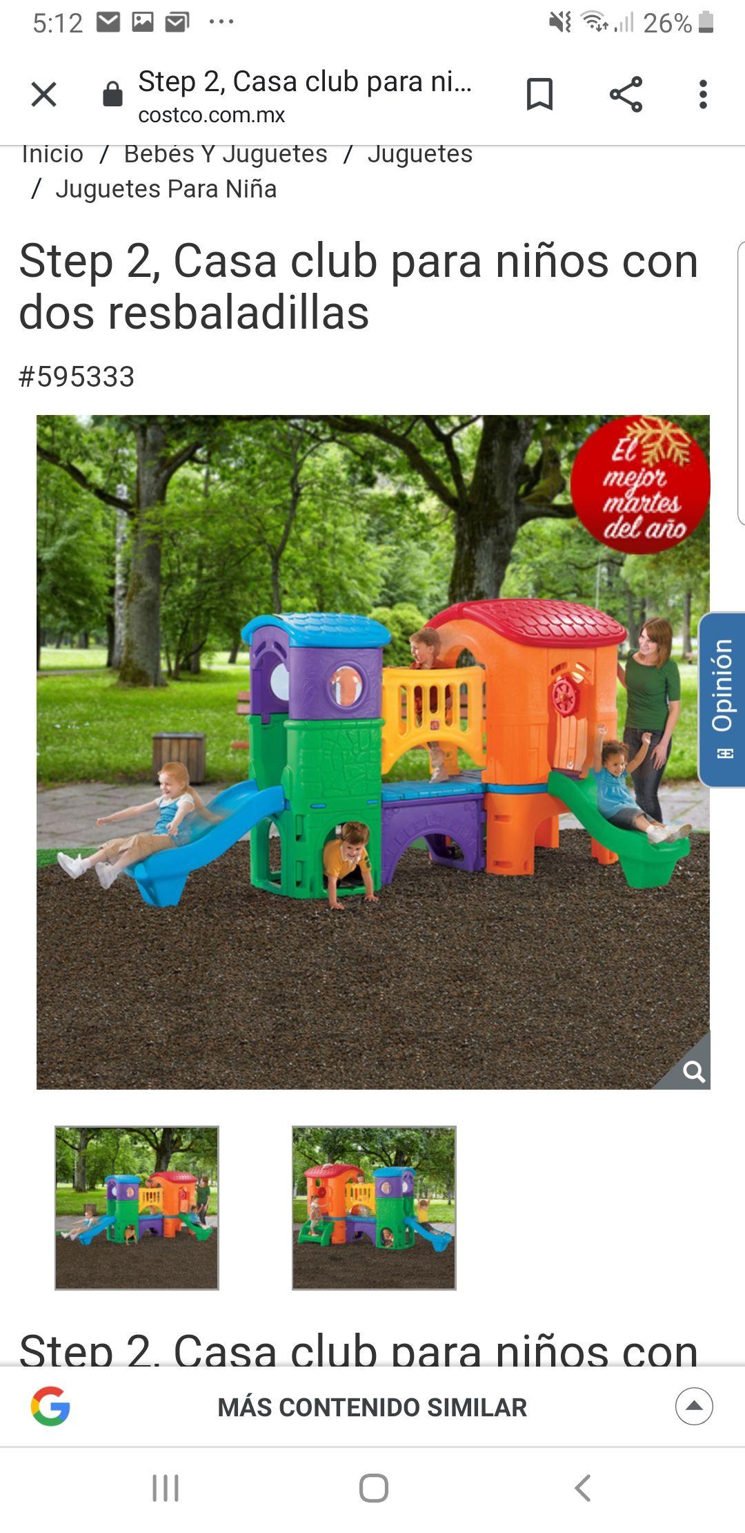 Costco: Step 2 - Casa club para niños con dos resbaladillas