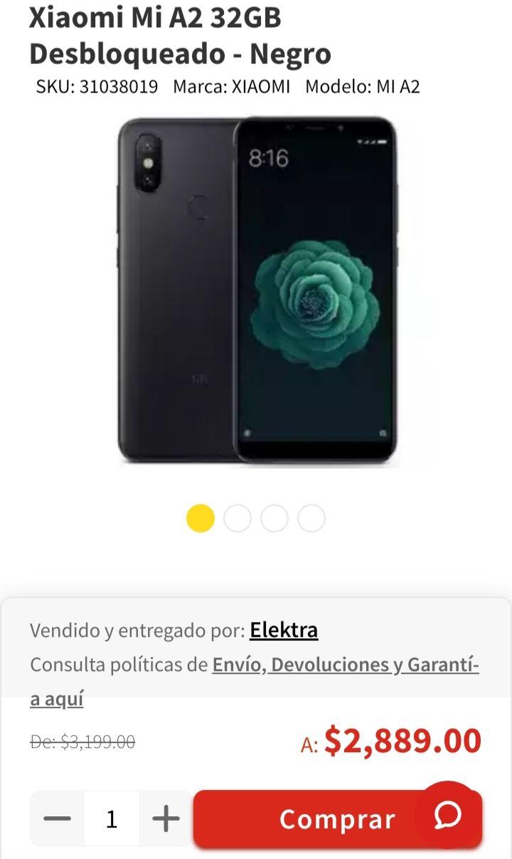 Elektra: Xiaomi Mi A2 32GB Oferta Limitada (con Paypal)