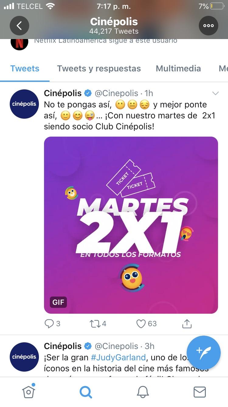 Cinépolis: Martes 2X1