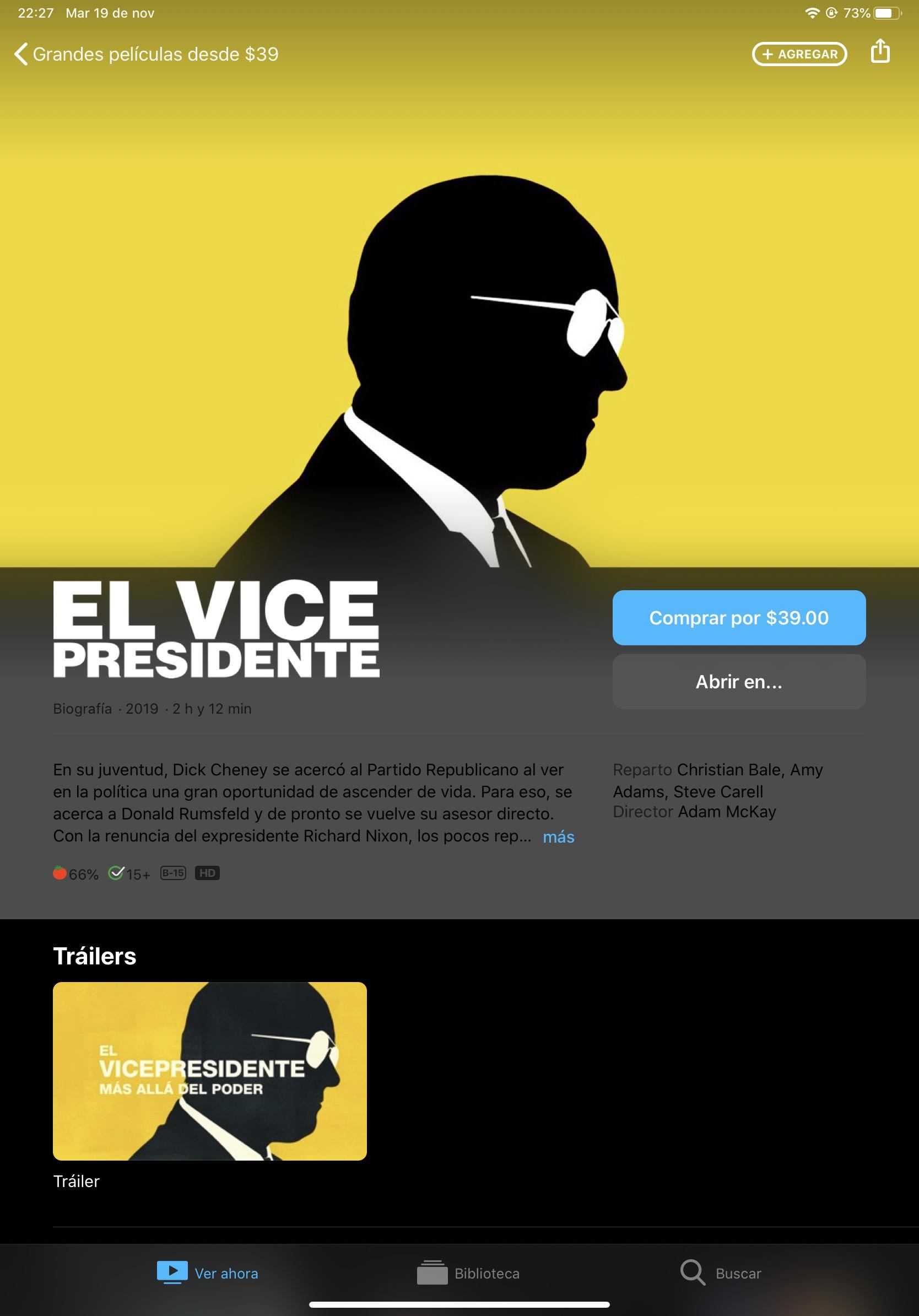 iTunes y Apple TV: El Vicepresidente