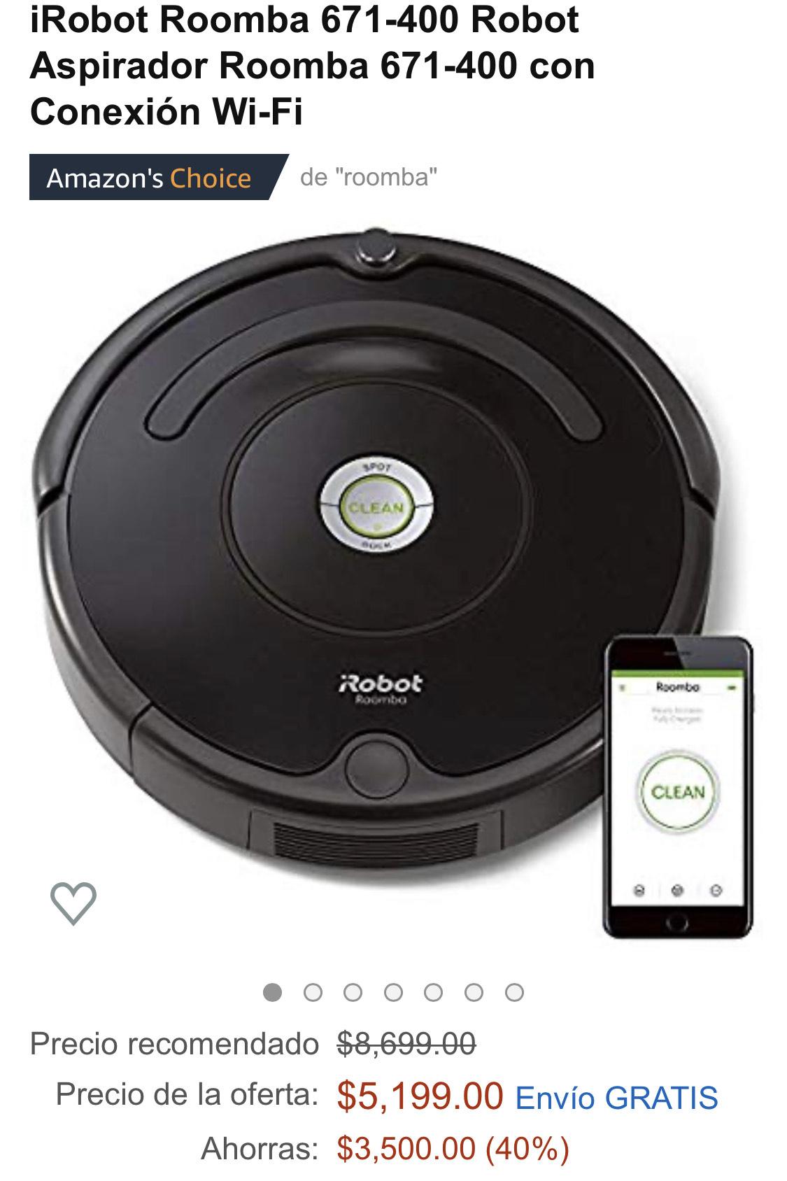 Amazon: Roomba 671-700 con Citibanamex Débito