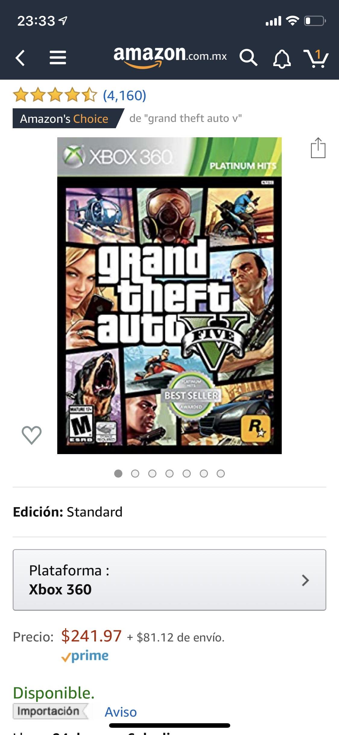 Amazon: GTA V