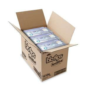 Amazon Mx o Walmart: BBTips Sensitive Caja 12x100 total 1200 toallitas