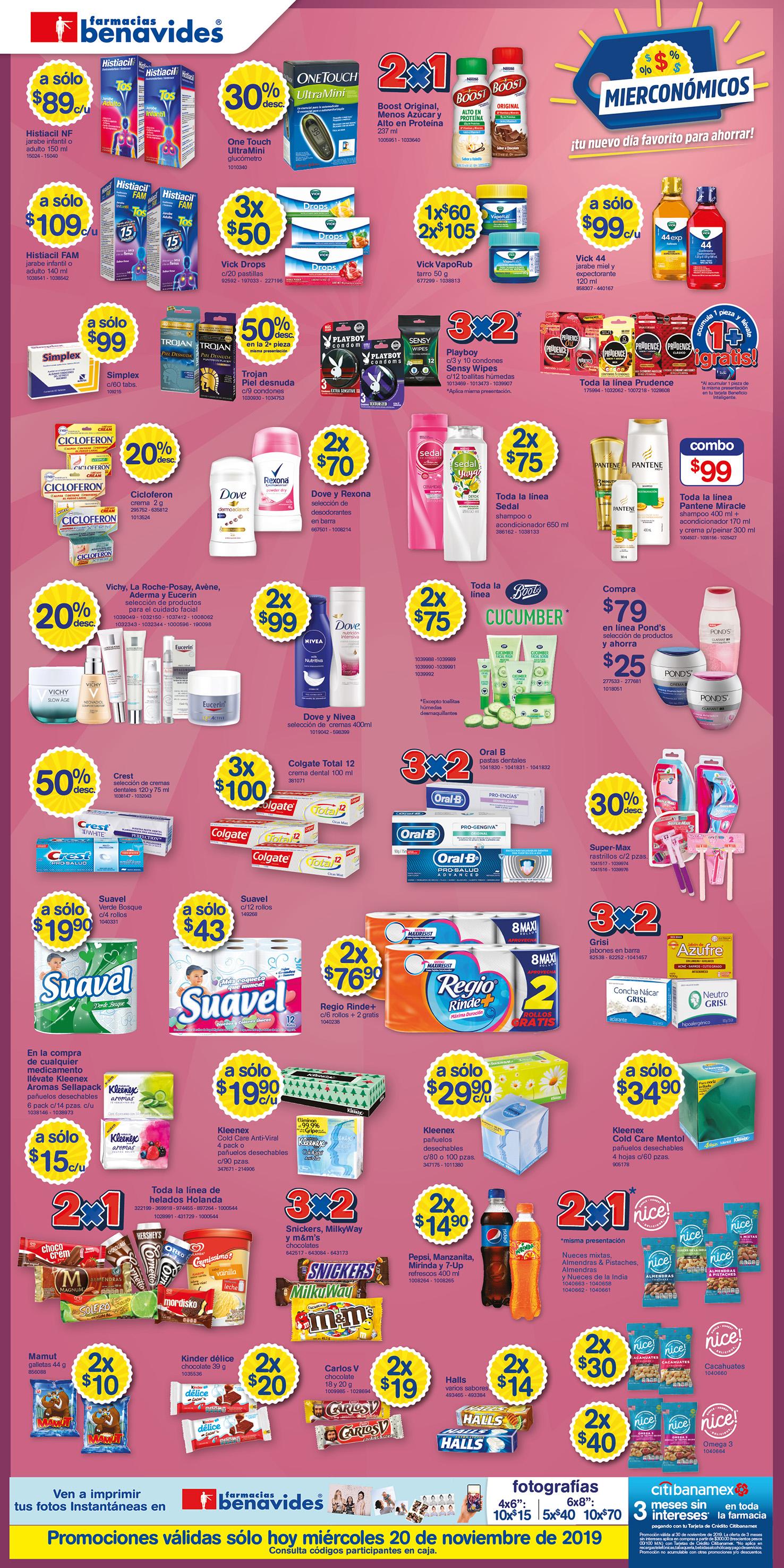 Farmacias Benavides: Miérconómicos 20 de Noviembre