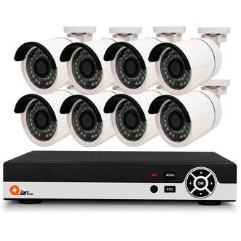 Linio KIT DE VIGILANCIA CCTV QIAN YAO 8 CAMS DVR PENTA 8 CH QKC8D81901-negro