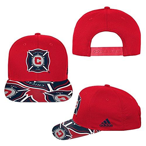 Amazon: Gorra Talla (8), Color Rojo MLS Chicago Fire R Youth Boys