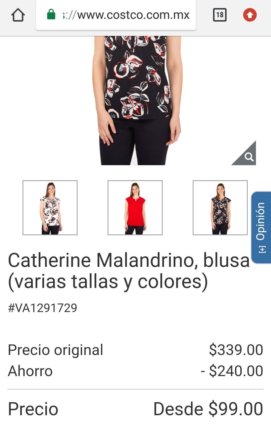 Costco: blusa en $99