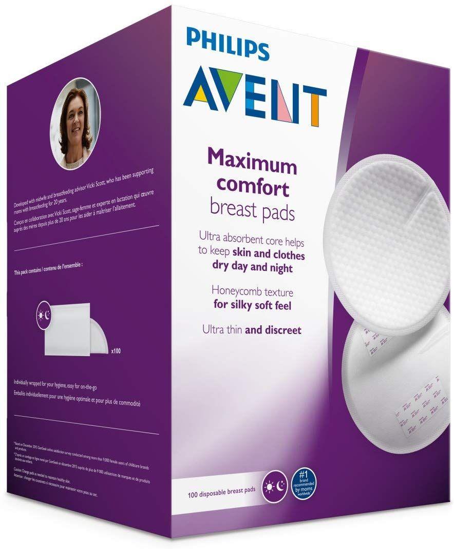 Amazon: Protectores de lactancia avent 100 piezas
