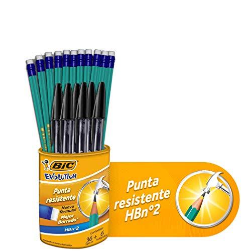 Amazon : Paquete BIC Lápiz Evolution 36 Piezas y 6 plumas
