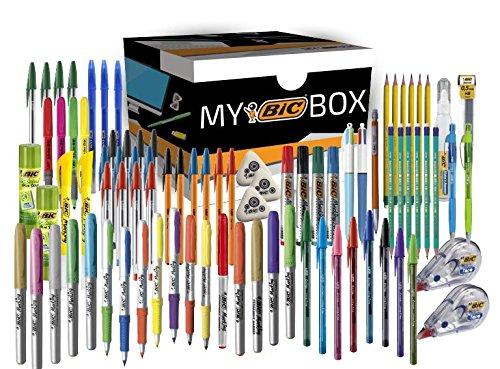 Amazon : BIC BOX - Incluye 89 artículos escolares distintos distintos