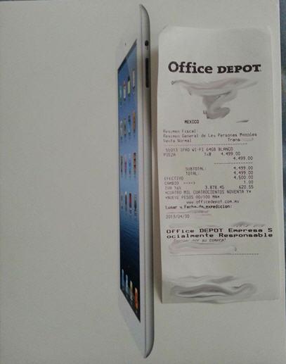 Liquidación de iPad tercera generación en Office Depot