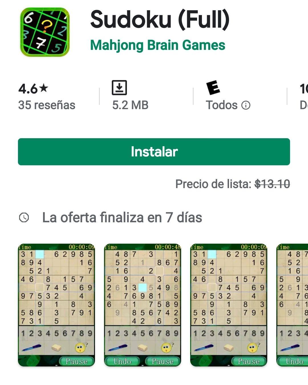 Google Play Sudoku full
