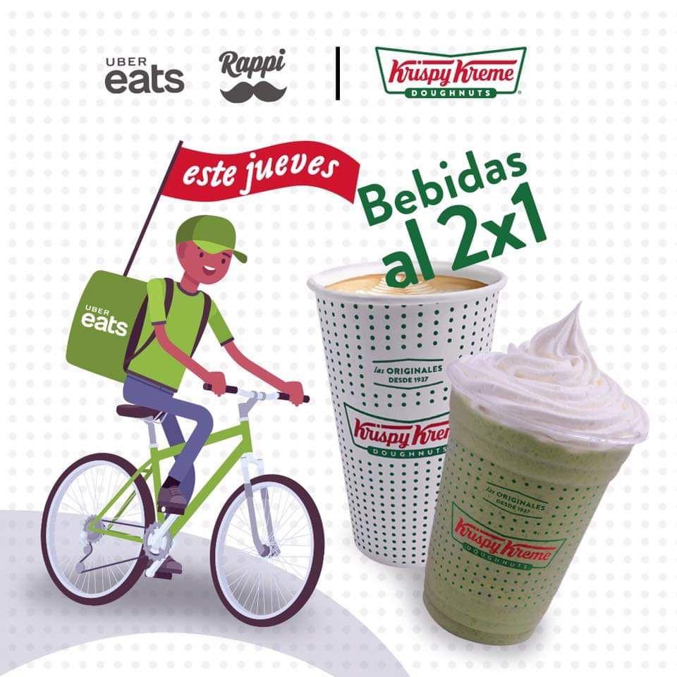 Krispy Kreme: bebidas al 2x1 con Uber Eats o Rappi