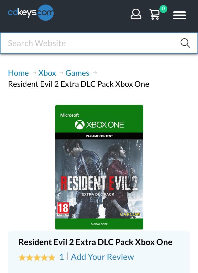 Resident Evil 2 DLC para Xbox One - CDKeys