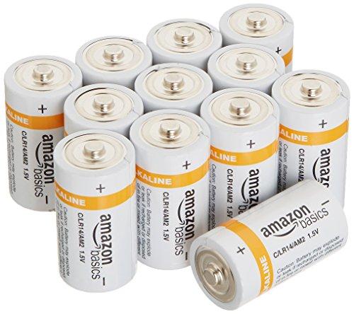 Amazon Basics Pilas alcalinas C Cell Everyday Paquete de 12
