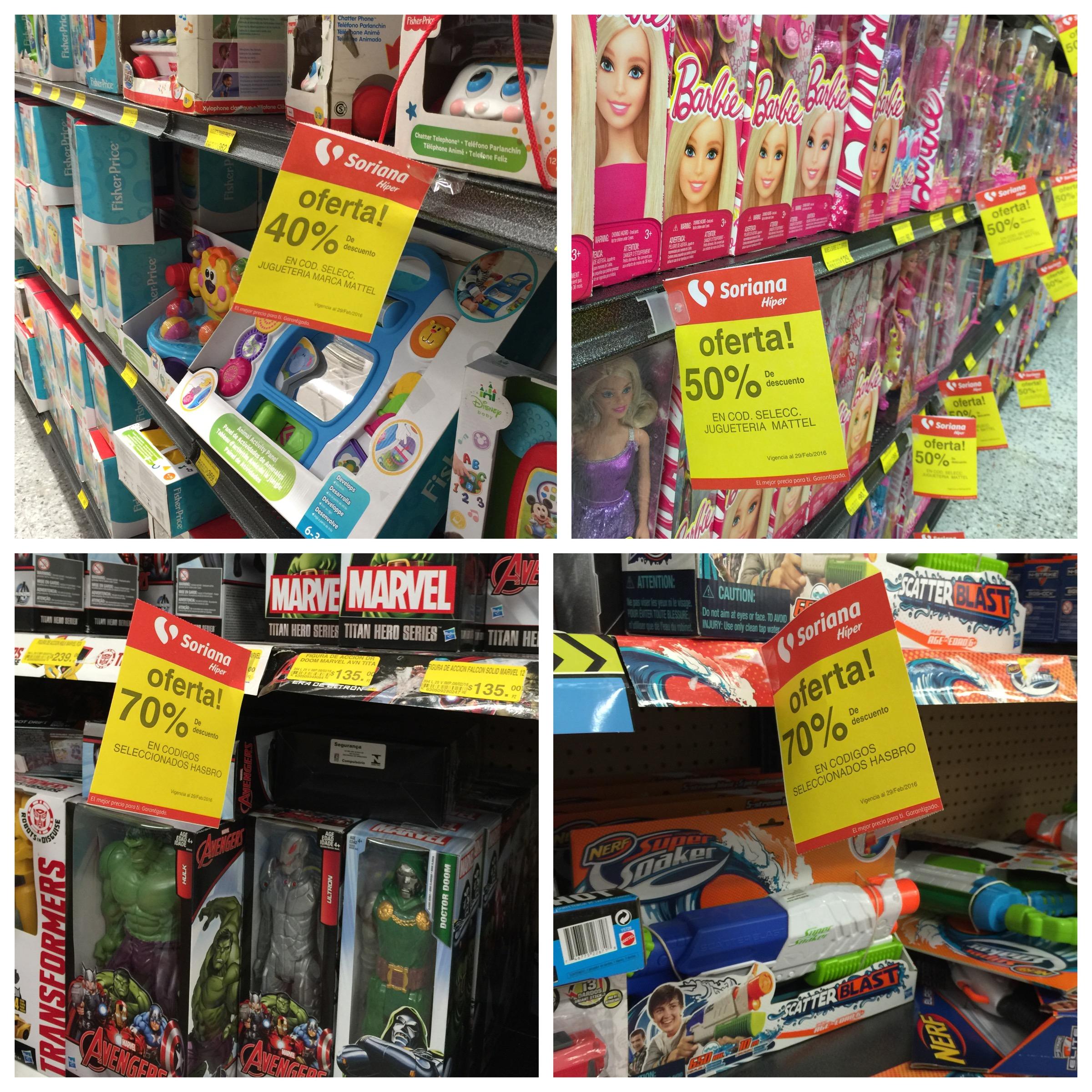 Soriana: descuentos del 50% a 70% en juguetes