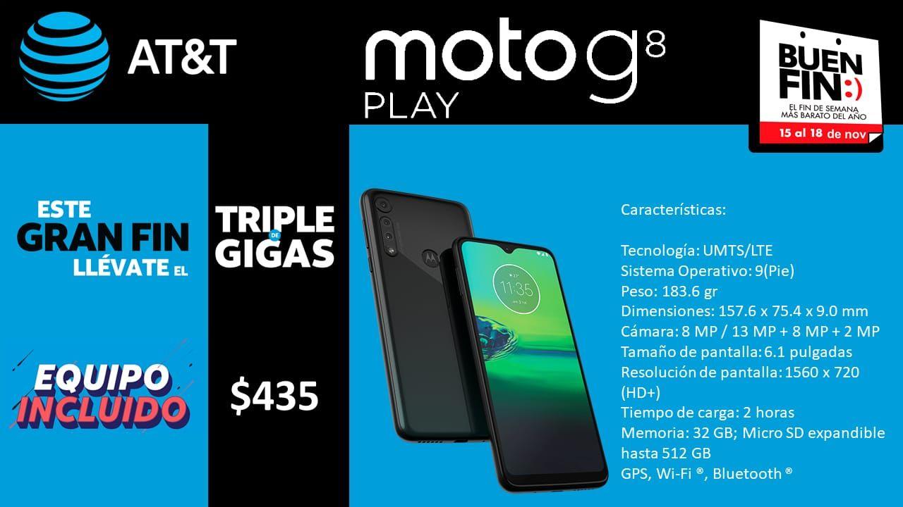 AT&T: Moto G8 Play incluido en Plan 400
