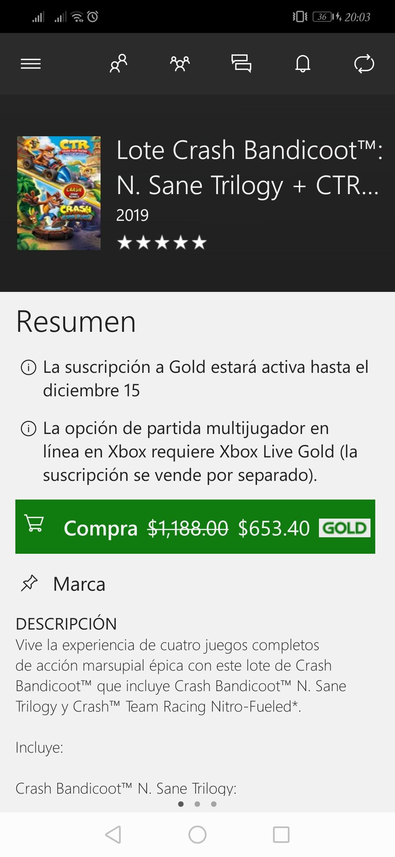 Microsoft Store: Crash bandicoot y ctr