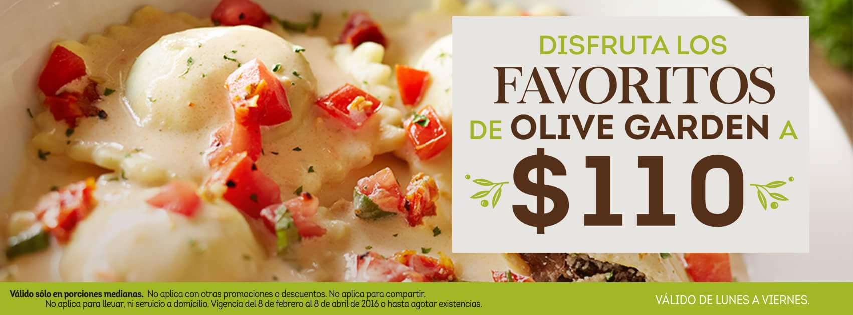 Olive Garden: vuelven los favoritos a $110