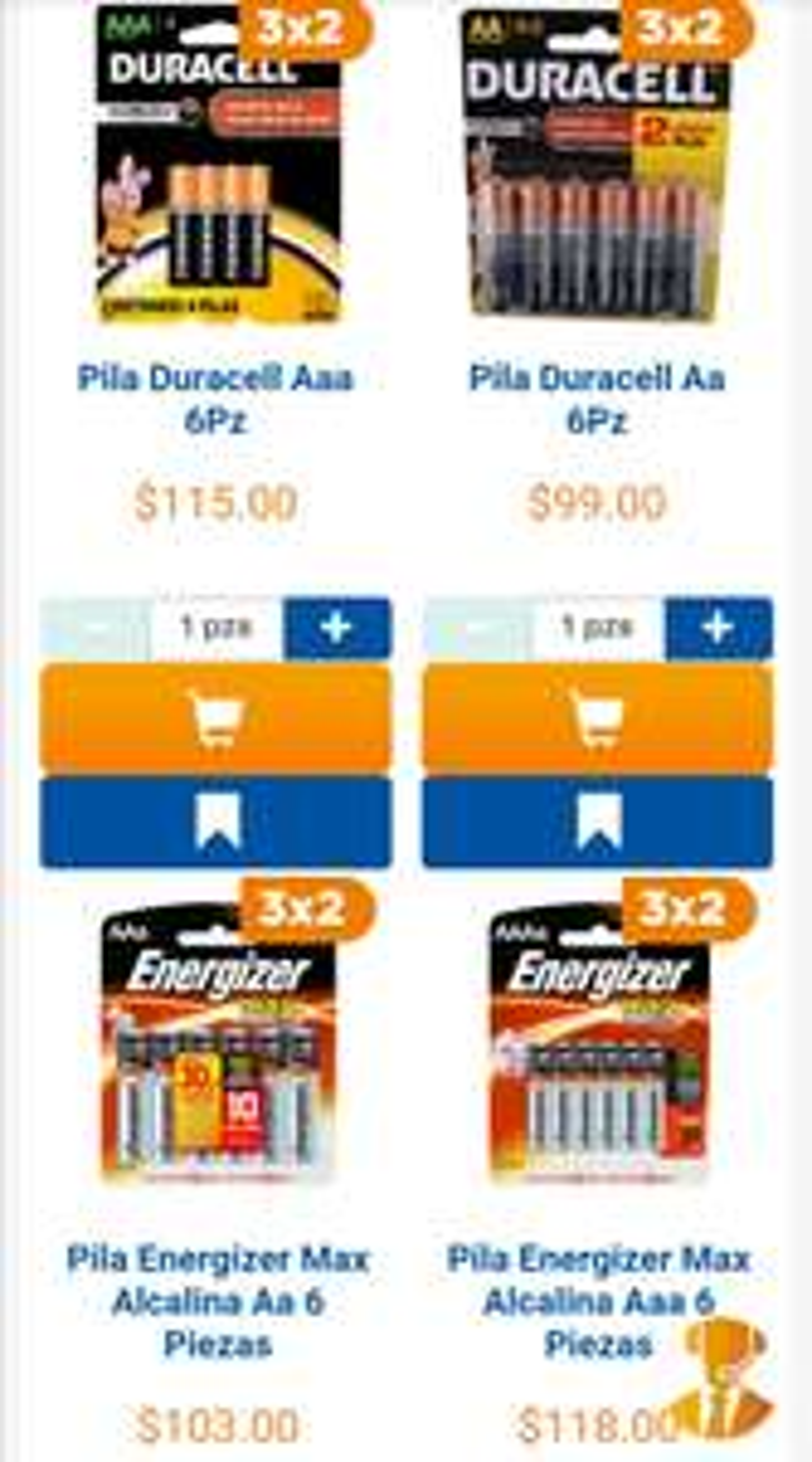 Chedraui: 3 x 2 en pilas Duracell y Energizer de 4 o 6 piezas