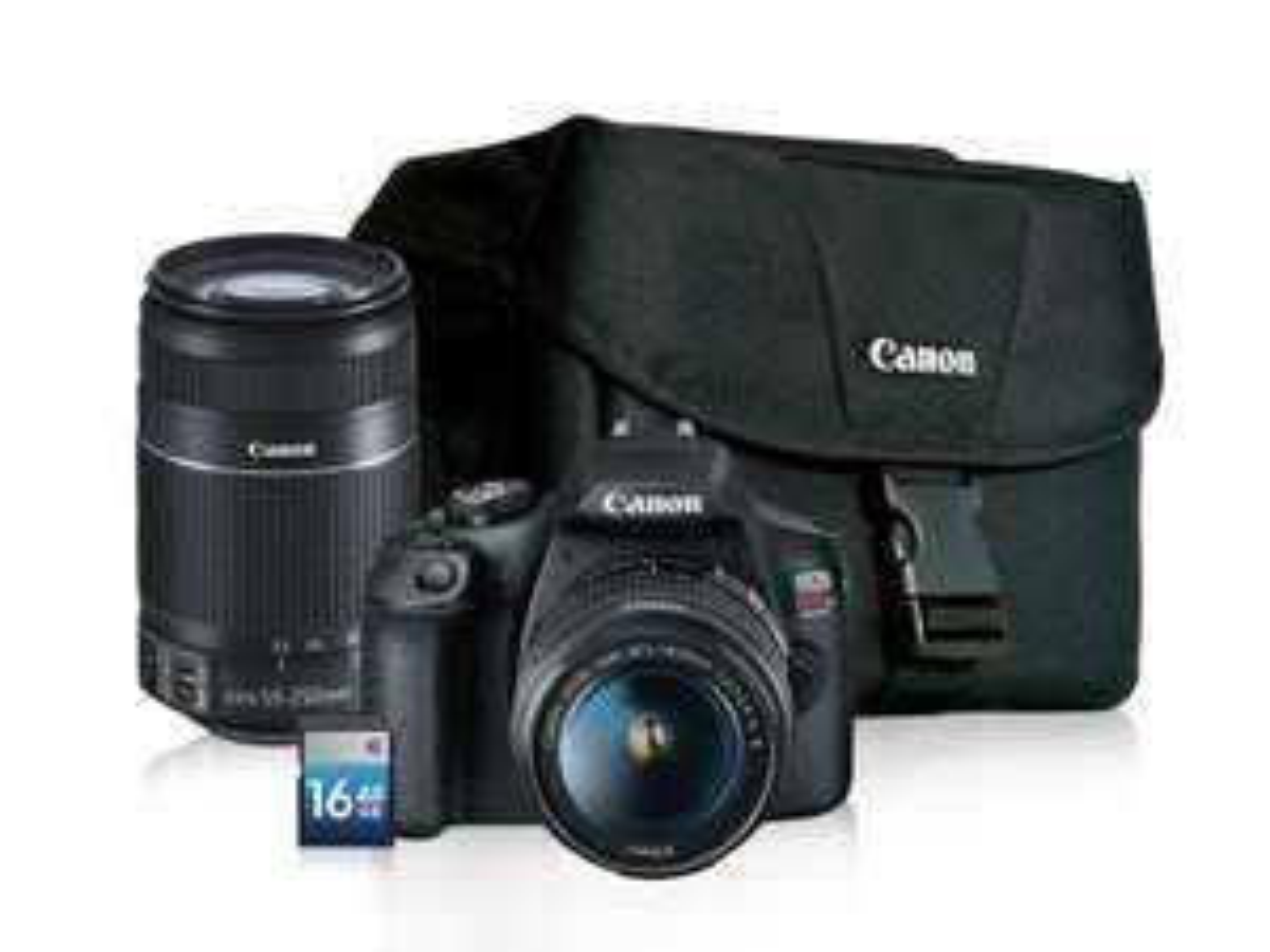 Best Buy Canon T7 18-55 mm + 55-250mm+Estuche + SD BestBuy vigente solo el día de hoy