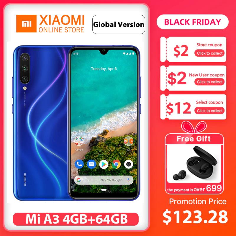 Aliexpress: Xiaomi Mi A3 4GB/64GB envio DHL incluido (promoción para el Black Friday)