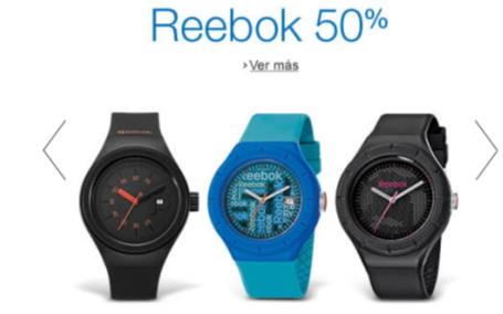 Amazon MX: Varios modelos de relojes Reebok con 50% de descuento.