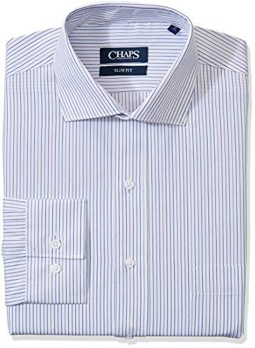Amazon: Chaps FCV00004450-362 Camisa de Vestir para Hombre Talla 16/2 Color: AZUL-362
