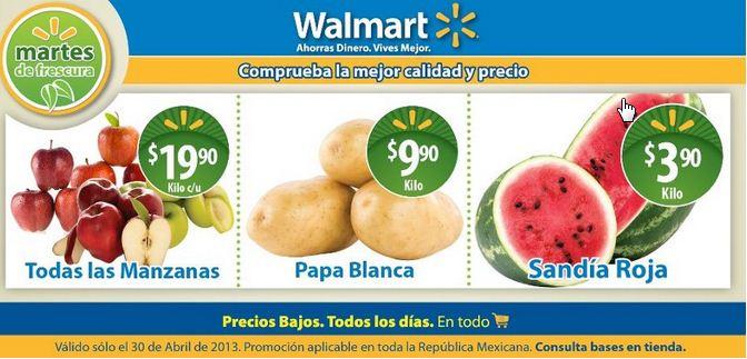 Martes de fresucura Walmart abril 30: todas las manzanas $19.90 y más