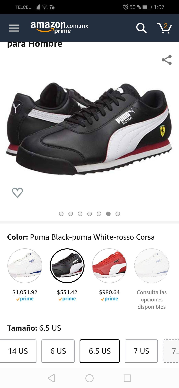 Amazon: Puma Roma Ferrari #4.5 MX(aplica Prime)