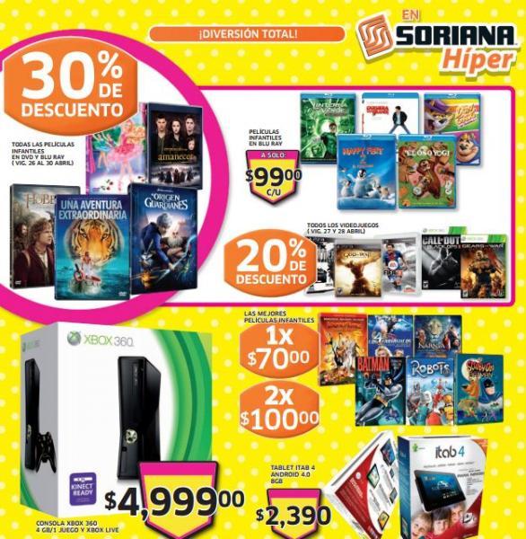 Folleto Soriana del 26 de abril al 2 de mayo (20% menos en todos los videojuegos)
