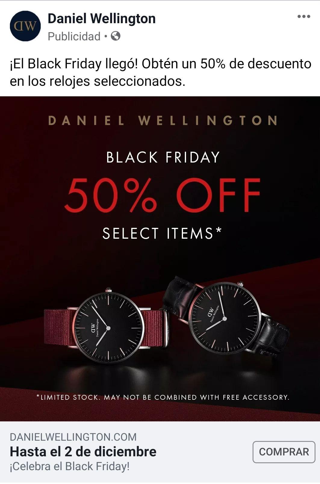 Daniel wellington: 50% de descuento en relojes seleccionados