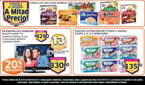 Soriana: 2x1 y medio en juguetes y galletas Gamesa, 20% menos en TVs Samsung y +