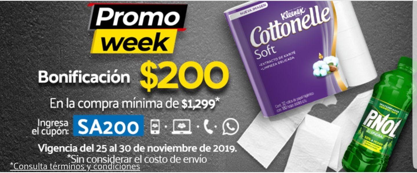 Superama Promo Week: $200 de descuento en compras de $1299
