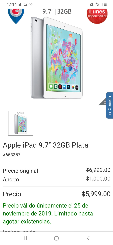"Costco: Apple iPad 9.7"" 32GB Plata"