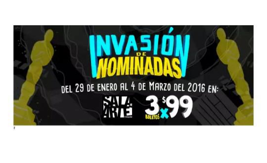 Cinépolis: Invasión de nominadas 3 boletos por $99