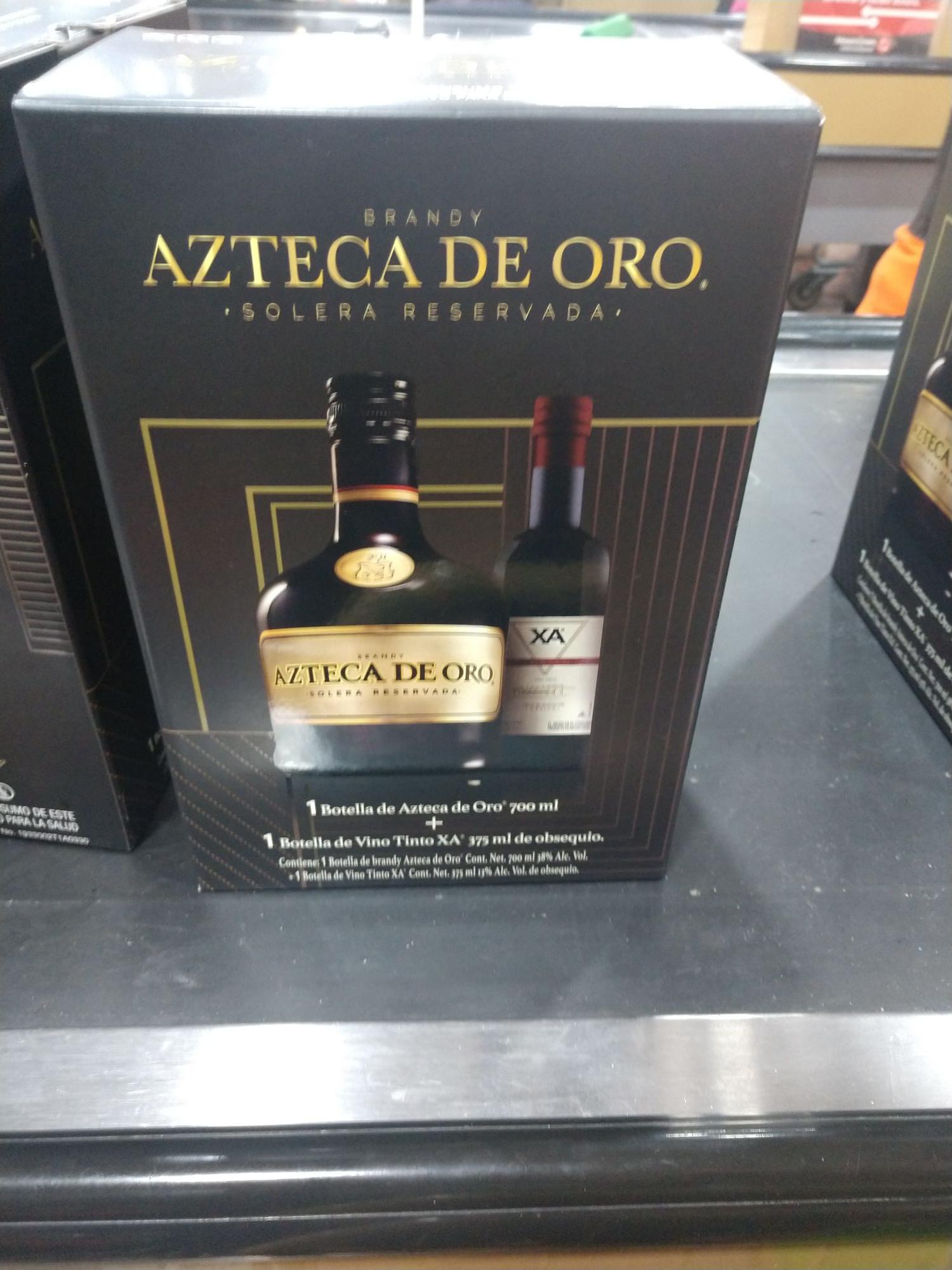 Merco Solidaridad Monterrey NL: Azteca de oro 700 ML. Con regalo doble regalo número 1 el precio y segundo una botella de vino