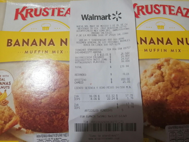 Walmart: Harina para muffin