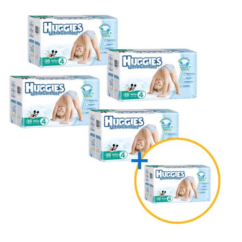 Walmart Online: Pañales de bebé marca huggies a 4x5 varias etapas